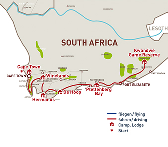 Garden route selbstfahrer s dafrika - Drive from port elizabeth to cape town ...